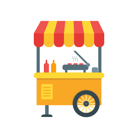 Street food icon vector isolated on white background for your web and mobile app design