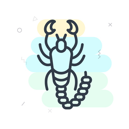Scorpion icon vector isolated on white background for your web and mobile app designconcept Illusztráció