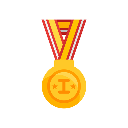 Medal icon vector isolated on white background for your web and mobile app design Illustration