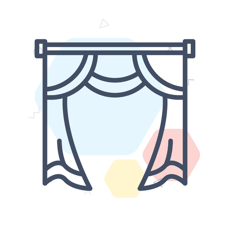 Curtain icon vector isolated on white background for your web and mobile app design 向量圖像