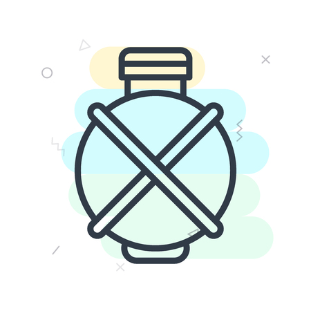 Canteen icon vector isolated on white background for your web and mobile app design  イラスト・ベクター素材