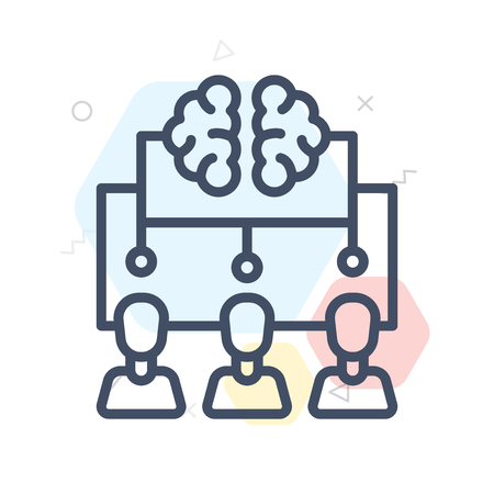 Brainstorm icon vector isolated on white background for your web and mobile app design