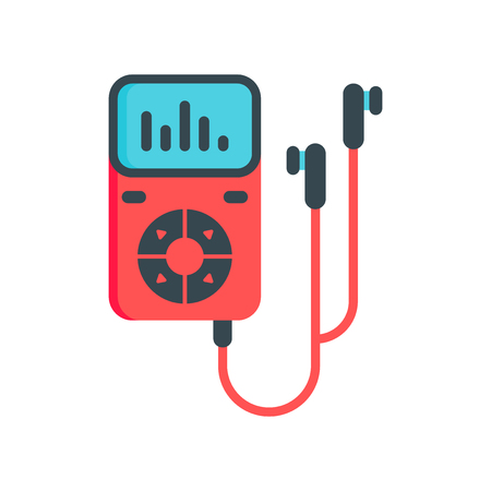 Music player icon vector isolated on white background for your web and mobile app design Vettoriali