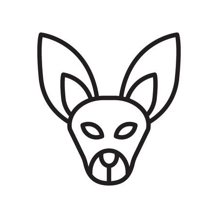 Fennec icon vector isolated on white background for your web and mobile app design