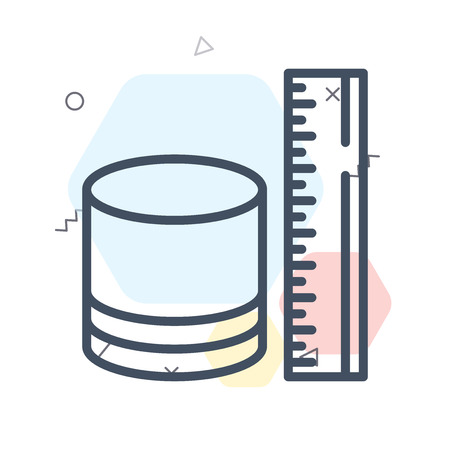 Measure icon vector isolated on white background for your web and mobile app design