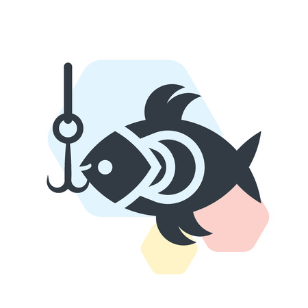 Fishing icon vector isolated on white background for your web and mobile app design