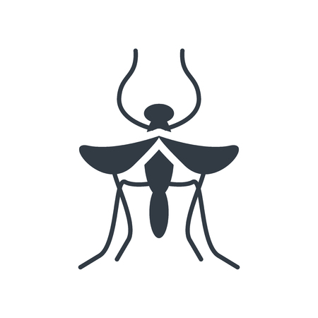Mosquito icon vector isolated on white background for your web and mobile app design