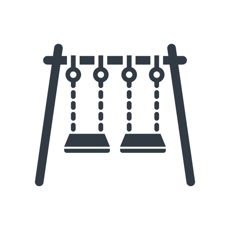 Swings icon vector isolated on white background for your web and mobile app design