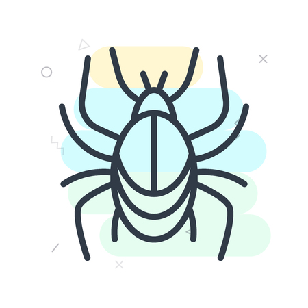 Beetle icon vector isolated on white background for your web and mobile app design Illustration