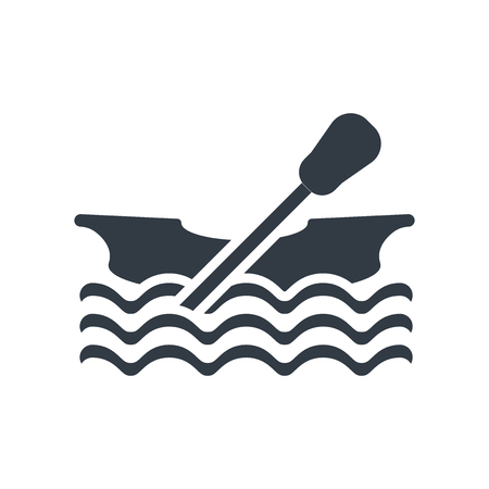 Canoe icon vector isolated on white background for your web and mobile app design