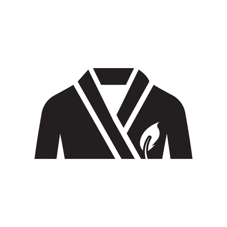 Vecteur d'icône de peignoir isolé sur fond blanc pour la conception de votre application web et mobile