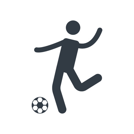Football icon vector isolated on white background for your web and mobile app design