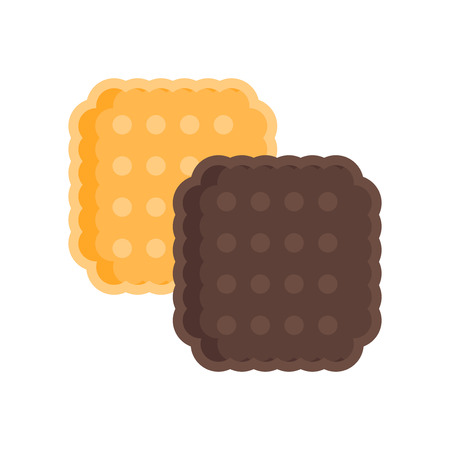 Biscuit icon vector isolated on white background for your web and mobile app design Ilustração