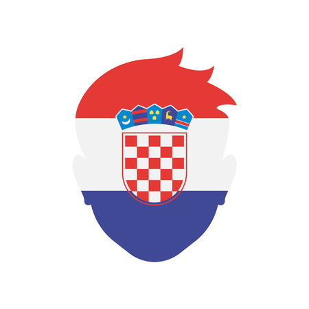 Croatia icon vector isolated on white background for your web and mobile app design