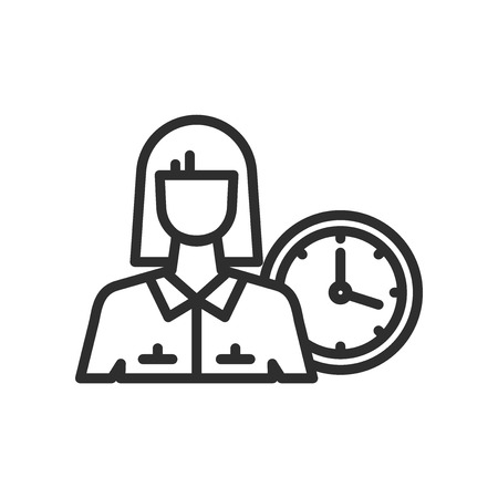 Office Secretary icon vector isolated on white background for your web and mobile app design