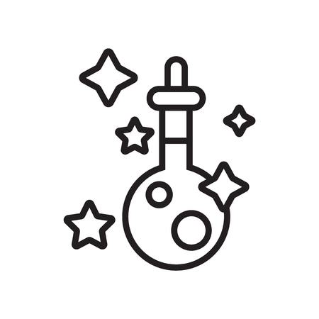 Potion icon vector isolated on white background for your web and mobile app design Illustration