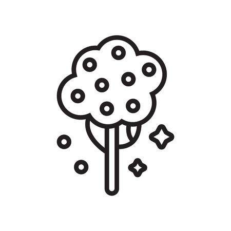 Vecteur d'icône d'arbre fruitier isolé sur fond blanc pour la conception de votre application web et mobile Vecteurs
