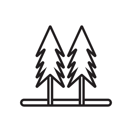 Pines icon vector isolated on white background for your web and mobile app design