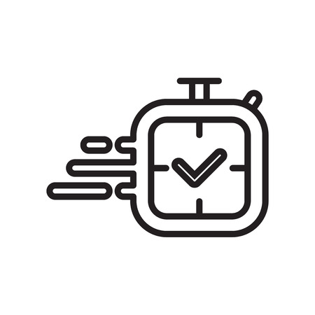 Stopwatch icon vector isolated on white background for your web and mobile app design