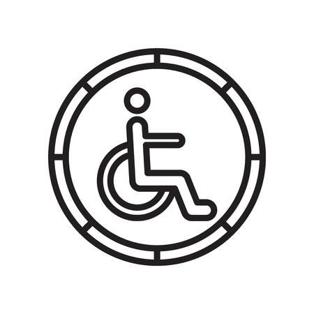 Handicapped sign icon vector isolated on white background for your web and mobile app design