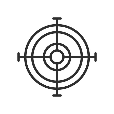 Arm Target icon vector isolated on white background for your web and mobile app design