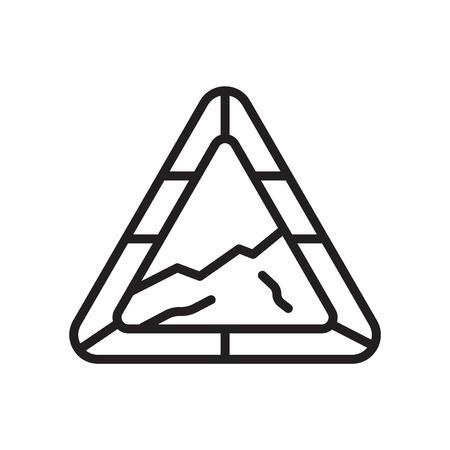Vecteur d'icône de pente isolé sur fond blanc pour la conception de votre application web et mobile Vecteurs