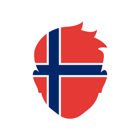 Norway icon vector isolated on white background for your web and mobile app design
