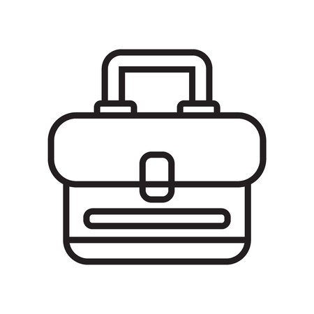 Briefcase icon vector isolated on white background for your web and mobile app design 일러스트