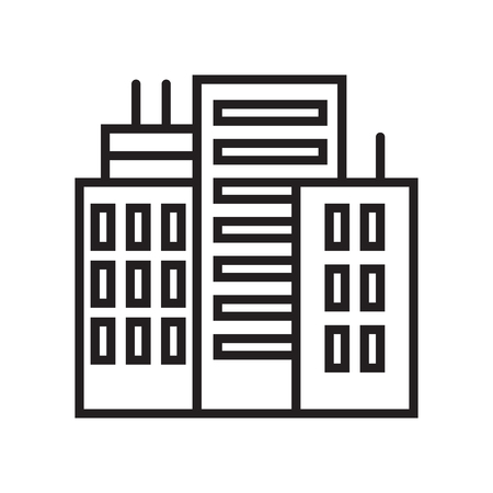 Building icon vector isolated on white background for your web and mobile app design