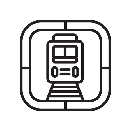 Train icon vector isolated on white background for your web and mobile app design