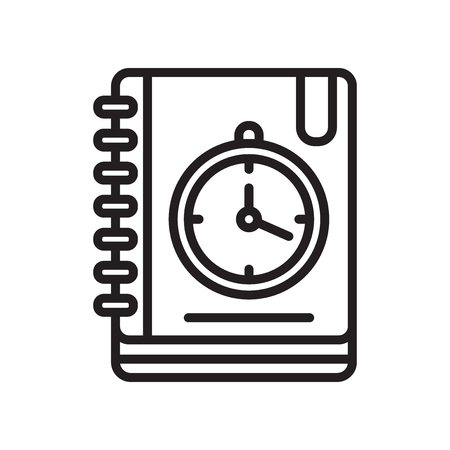 Agenda icon vector isolated on white background for your web and mobile app design Illustration