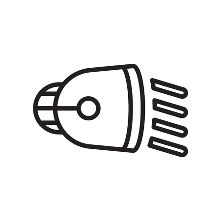 Low Beam icon vector isolated on white background for your web and mobile app design