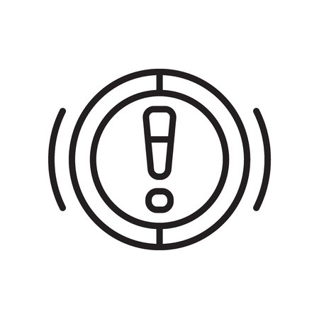 Brake System Warning icon vector isolated on white background for your web and mobile app design