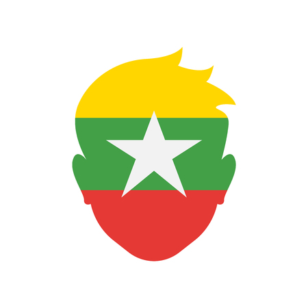 Myanmar icon vector isolated on white background for your web and mobile app design