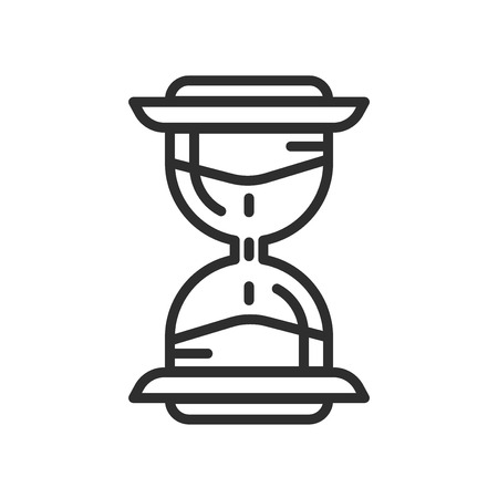Vintage Hourglass icon vector isolated on white background for your web and mobile app design