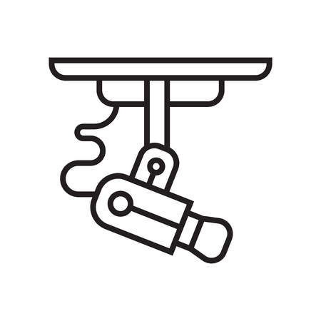 Cctv icon vector isolated on white background for your web and mobile app design