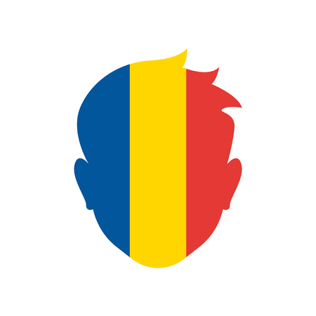 Romania icon vector isolated on white background for your web and mobile app design
