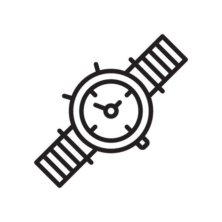 Watch icon vector isolated on white background for your web and mobile app design