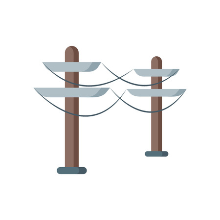 Electric tower icon vector isolated on white background for your web and mobile app design