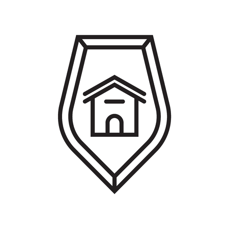House icon vector isolated on white background for your web and mobile app design, House logo concept Vectores