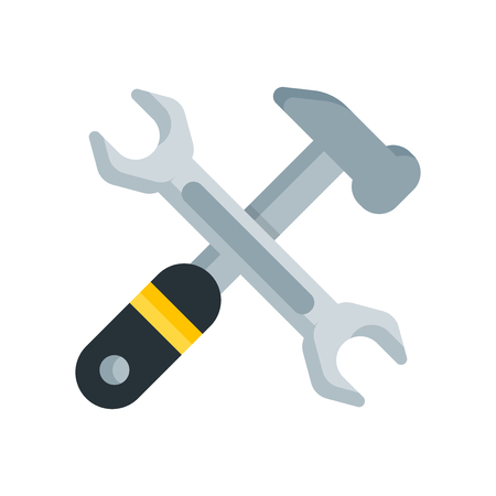 Tools icon vector isolated on white background for your web and mobile app design, Tools logo concept
