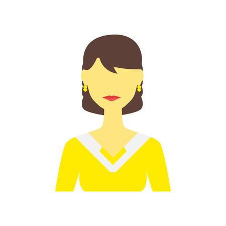 Vector icono de mujer aislado sobre fondo blanco para su diseño web y aplicaciones móviles, concepto de logo de mujer