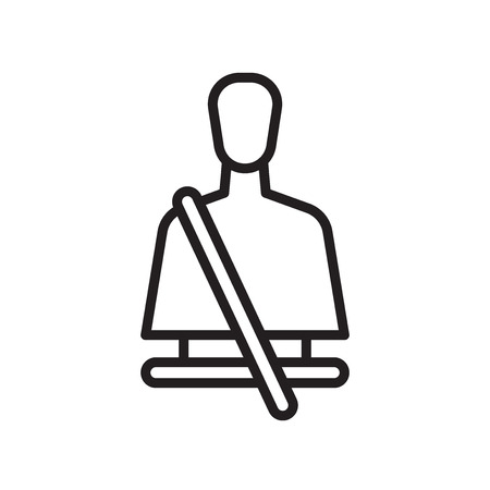Seatbelt icon vector isolated on white background for your web and mobile app design, Seatbelt logo concept