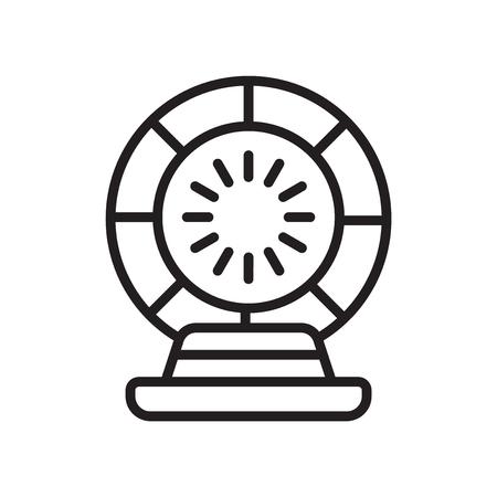 Sfera di cristallo icona vettoriale isolato su sfondo bianco per il vostro web e progettazione mobile app, concetto di logo sfera di cristallo