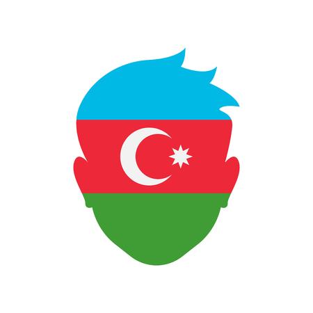 Azerbaijan icon vector isolated on white background for your web and mobile app design, Azerbaijan logo concept
