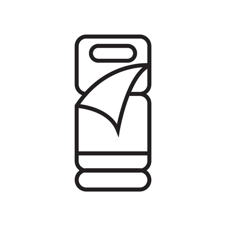 Sleeping bag icon vector isolated on white background for your web and mobile app design, Sleeping bag logo concept  イラスト・ベクター素材