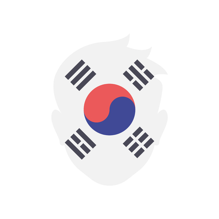 South korea icon vector isolated on white background for your web and mobile app design, South korea logo concept
