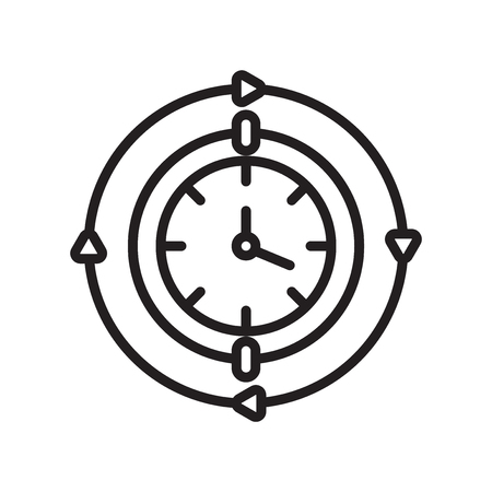 Wall clock icon vector isolated on white background for your web and mobile app design, Wall clock logo concept