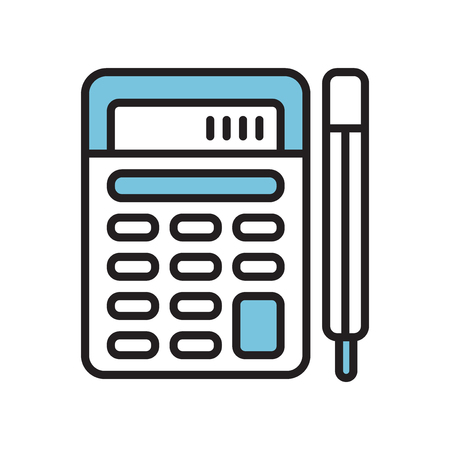 Calculator icon vector isolated on white background for your web and mobile app design, Calculator logo concept Illustration