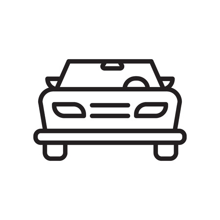 Car frontal view icon vector isolated on white background for your web and mobile app design, Car frontal view logo concept